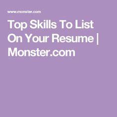 Sample of skills to put on a resume